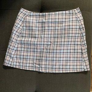 Cute plaid mini skirt
